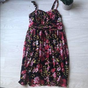Torrid Size 0 flower spaghetti strap dress